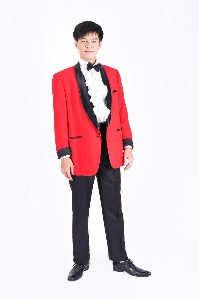 4004红色西装